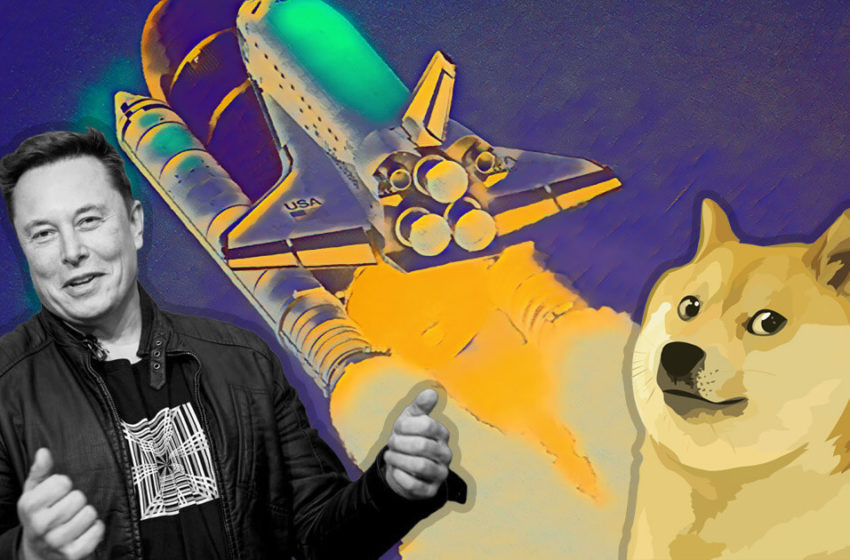 Elon Musk boosts Dogecoin by 76% with a rocket tweet