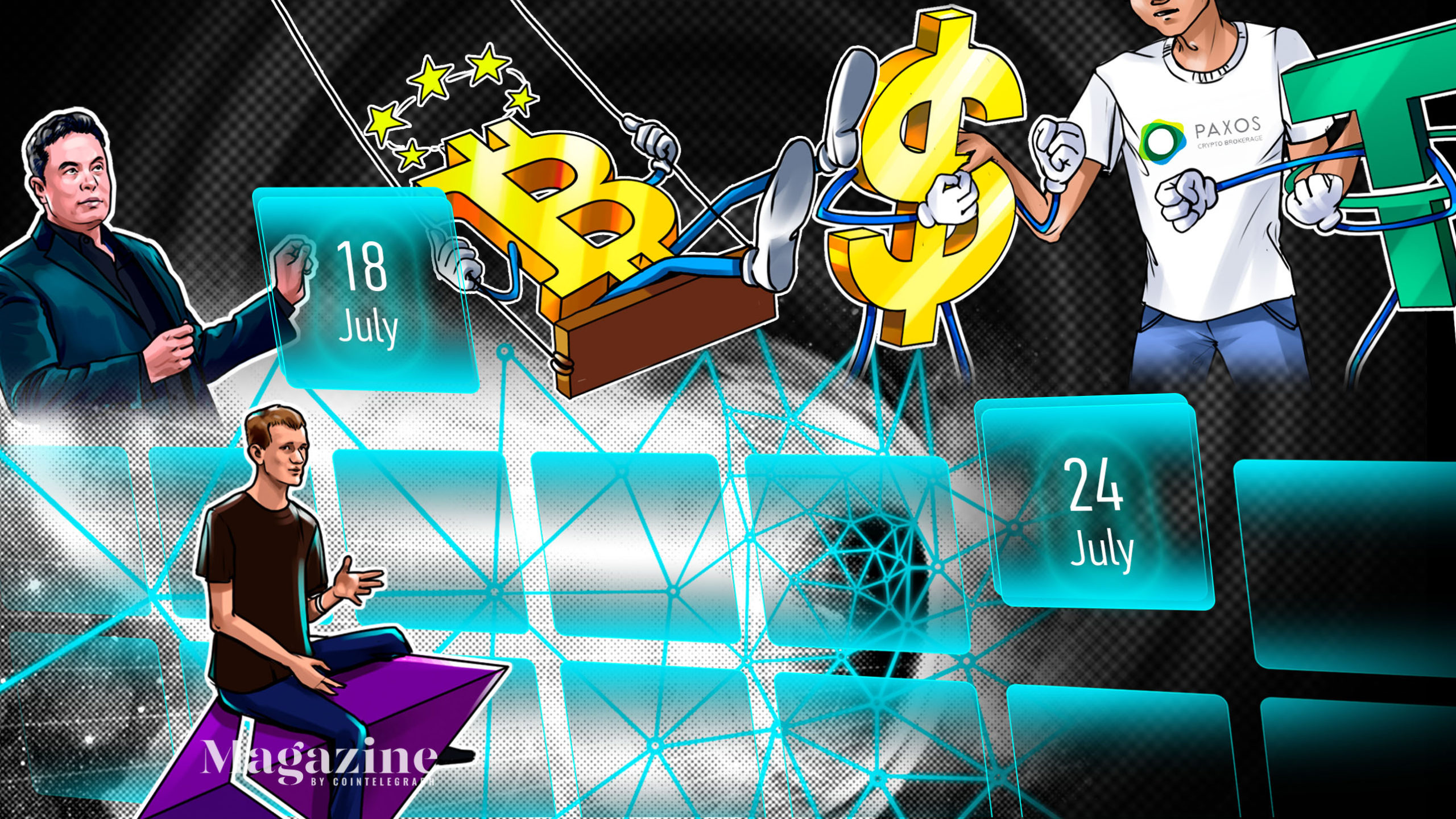 SpaceX owns BTC, daily Dogecoin volume surged in Q2, Grayscale eyeing ETF: Hodler's Digest, July 18–24